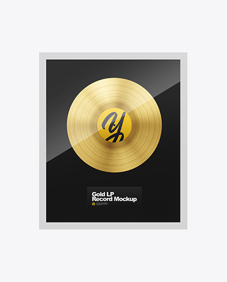 Gold LP Record Mockup