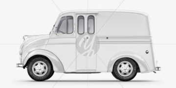 Delivery Truck Mockup - Side View