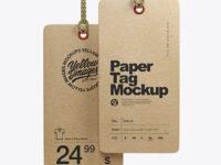Two Kraft Tag Labels Mockup