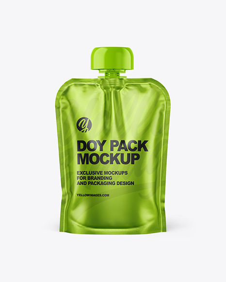 Metallic Doy Pack Mockup