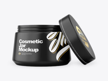 Opened Cosmetic Jar Mockup