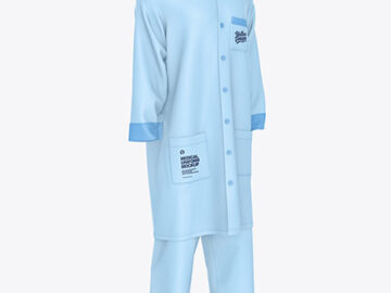 Medical Uniform Mockup – Half Side View