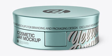 Matte Metallic Cosmetic Jar Mockup