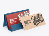 Business Cards w/ Glossy Holder Mockup