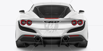 Sport Car Mockup - Back View