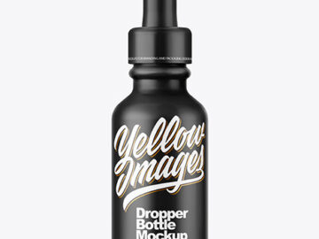 Matte Dropper Bottle Mockup