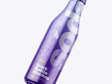 Fly Metallic Drink Bottle w/ Drops Mockup