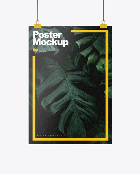 Textured A3 Poster with Clip Mockup