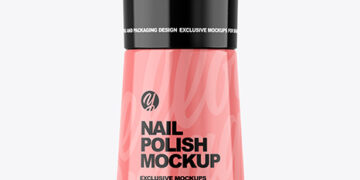Glossy Nail Polish Bottle Mockup