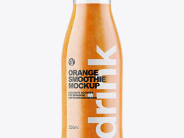 Orange Smoothie Bottle Mockup