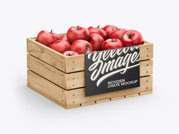 Crate with Apples Mockup