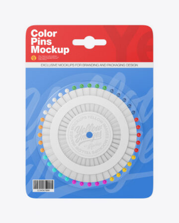 Paper Package w/ Color Pins Mockup