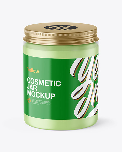 Frosted Cosmetic Jar Mockup