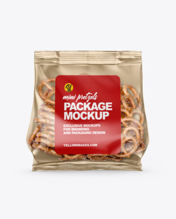 Bag With Mini Pretzels Mockup
