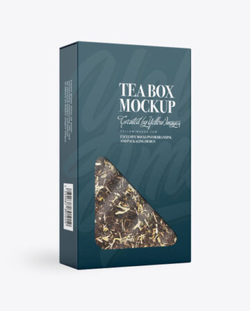 Paper Box with Tea Mockup