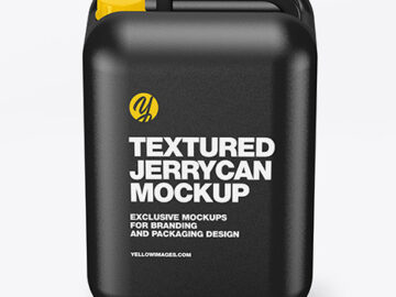 Textured Jerrycan Mockup