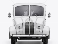 Delivery Truck Mockup - Front View