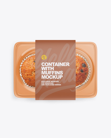 Container with Muffins Mockup