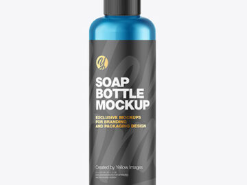 Metallic Soap Bottle w/ Pump Mockup