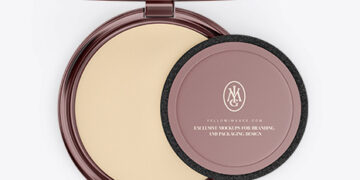 Metallic Cosmetic Powder Mockup