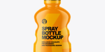 Plastic Spray Bottle Mockup
