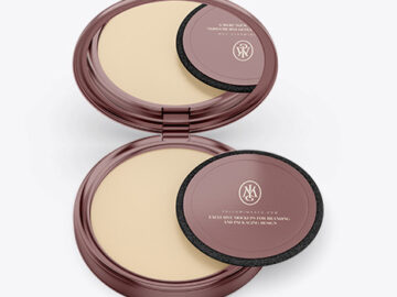 Metallic Compact Powder Mockup