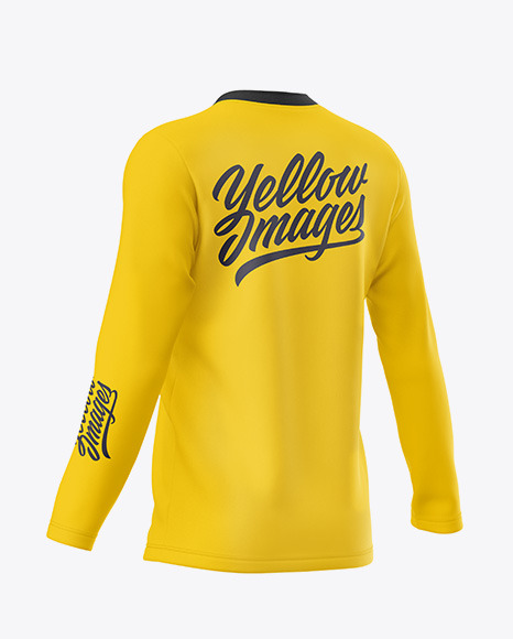 Men's Long Sleeve T-Shirt - Back Half Side View