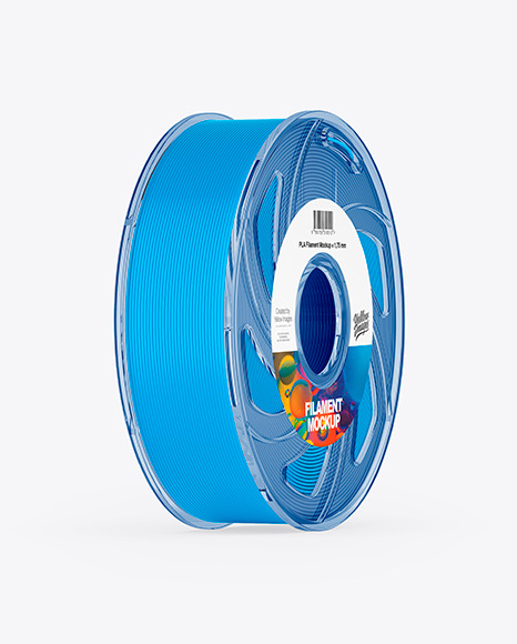 Transparent Filament Spool Mockup
