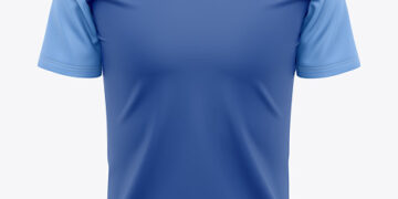 Men's Quarter Zip Sports Jersey Mockup - Front View