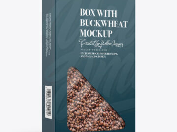 Box with Buckwheat Mockup