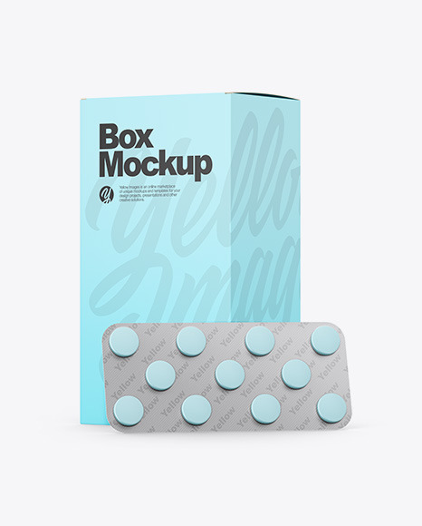 Paper Box W/ Blister Pack Mockup