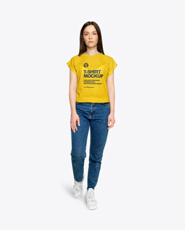 Woman in a T-Shirt Mockup