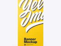 Glossy Roll-up Banner Mockup