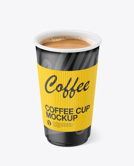 Paper Coffee Cup With Holder Mockup