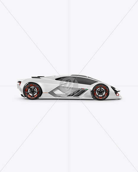 Super Car Mockup - Side View