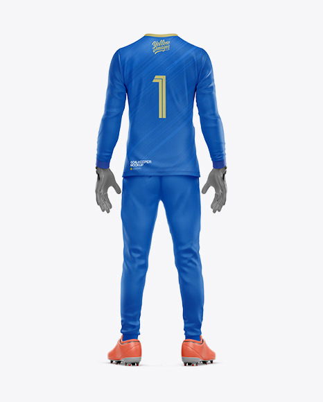 Goalkeeper Mockup - Back View