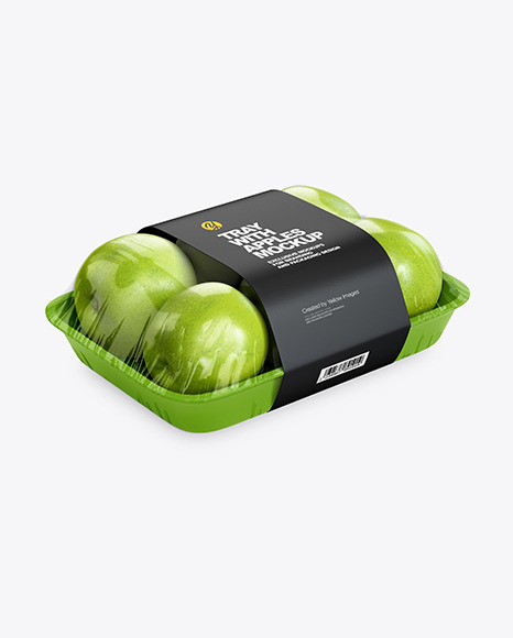 Tray with Green Apples Mockup