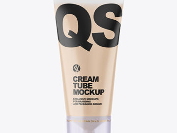 Clear Plastic Cosmetic Tube Mockup