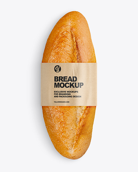 Bread with Label Mockup