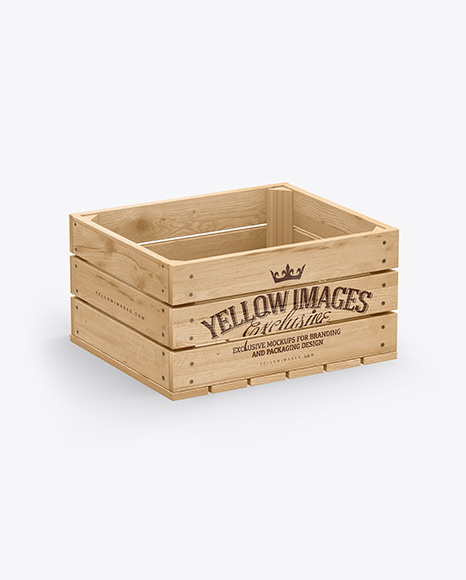 Wooden Crate Mockup