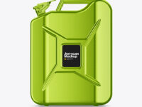 Metallic Fuel Jerrycan - Front View