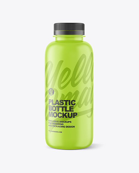 400ml Matte Plastic Bottle Mockup