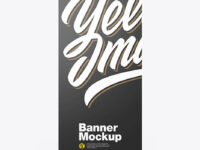 Metallic Roll-up Banner Mockup