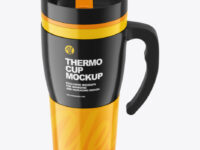 Glossy Thermo Cup Mockup