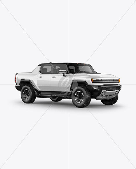 Electric Pickup Truck Mockup - Half Side View