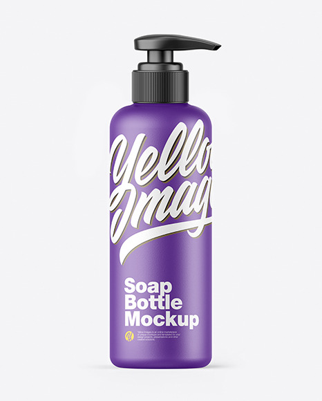 Ceramic Soap Bottle w/ Pump Mockup