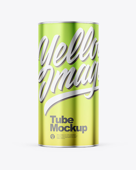Glossy Metallic Tube Mockup