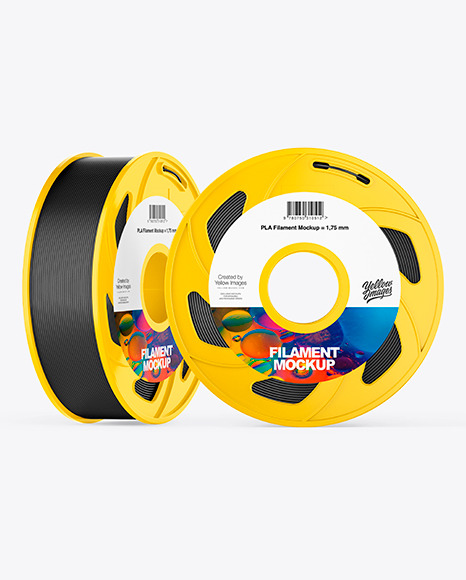 Two Plastic Filament Spool Mockup