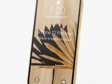 Apple iPhone 12 Pro Max Gold Mockup