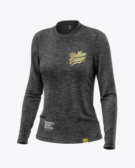 Melange Women's Long Sleeve Jersey Mockup